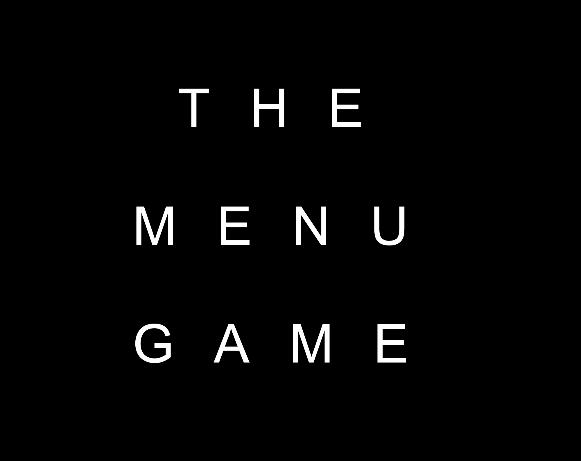 The Menu Game by aalves