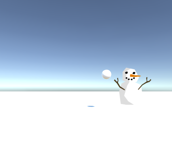 Throw snowballs at snowman. by adreqi