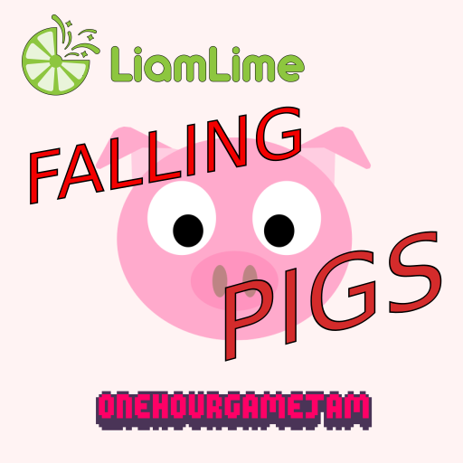 Falling Pigs by liamlime