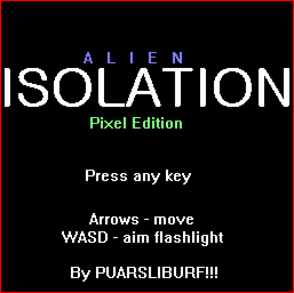 Alien Isolation Pixel Edition by puarsliburf