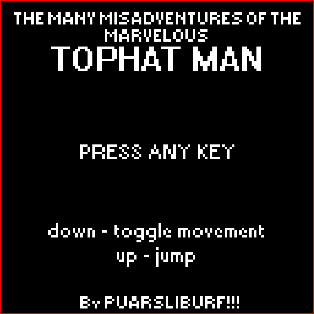 The Many Misadventures of The Marvelous Tophat Man by puarsliburf