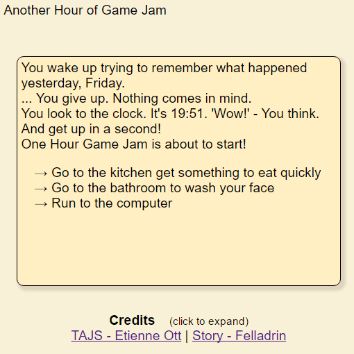 Another Hour of Game Jam by felladrin
