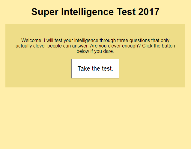 Super Intelligence Test 2017 by