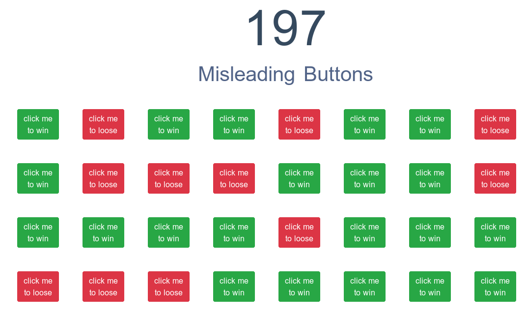 197 Misleading Buttons by winniehell
