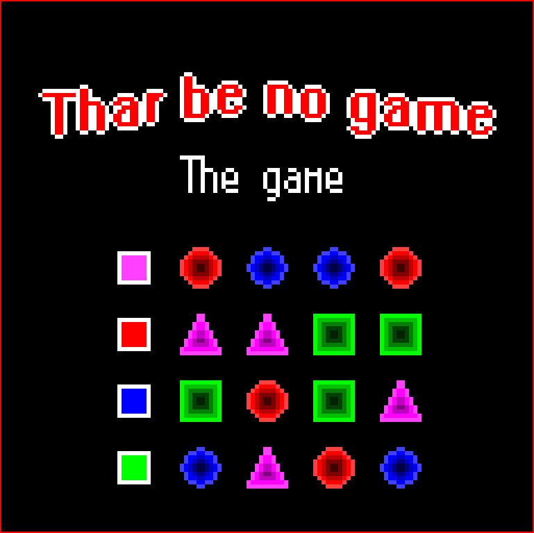 Thar Be No Game: The Game by puarsliburf