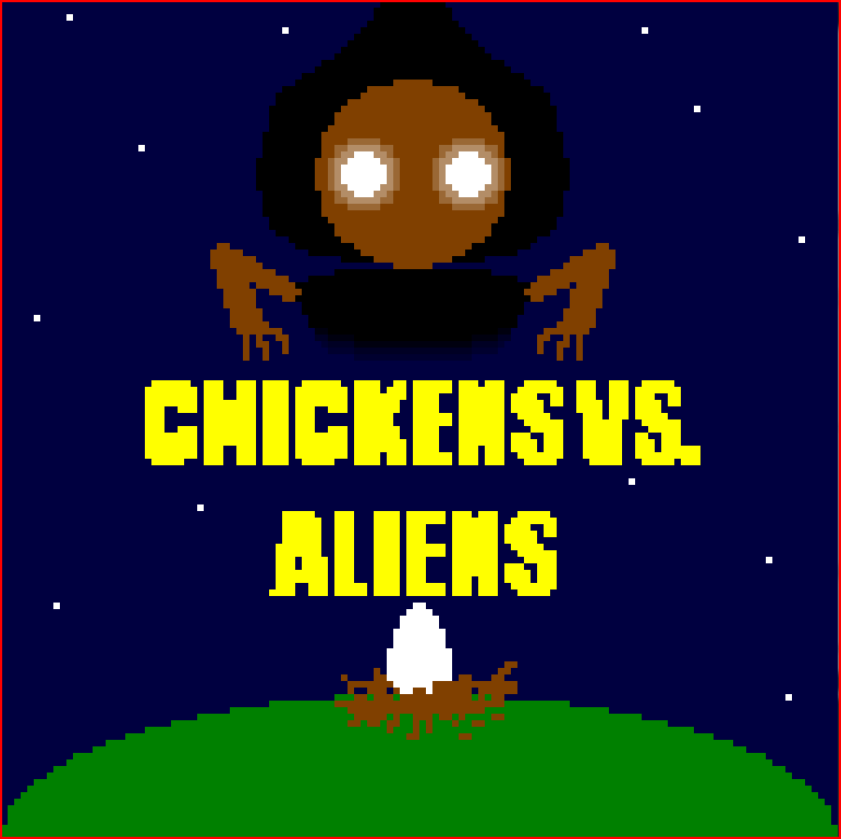 Chickens vs. aliens by puarsliburf